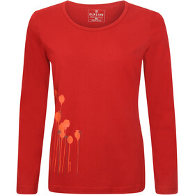 Elkline Posy Langærmet T-shirt Damer, chilipepperred